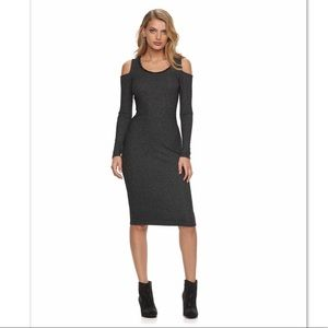 Juicy Couture Ribbed Cold Shoulder Dress
